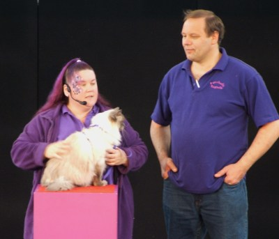 Peter and Terri-Ann Doing Presentation With Furrballz Batchelor Boy 2007